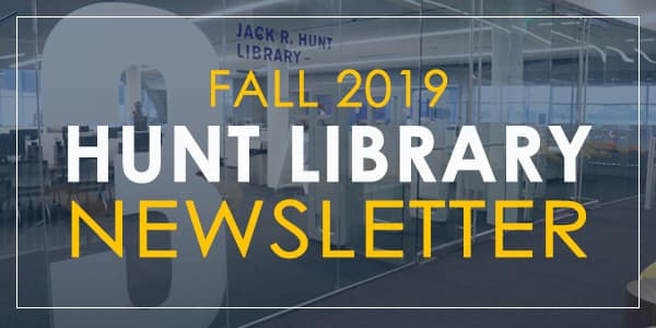 Hunt Library Newsletter Header