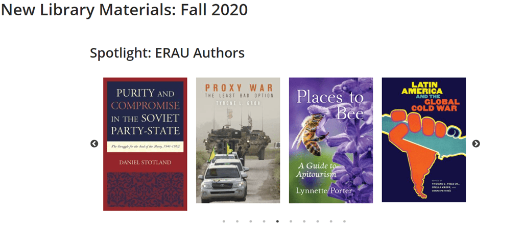 New Library Materials: Fall 2020