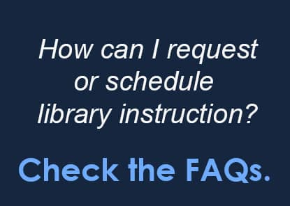 How can I request or schedule library instruction?