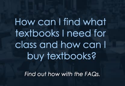How can I find what textbooks I need for class and buy?