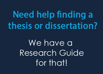 Featured Research Guide: Finding Dissertations & Theses