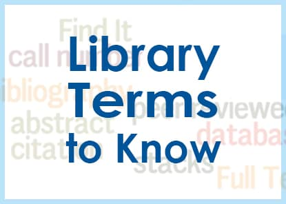 Library Terms to Know