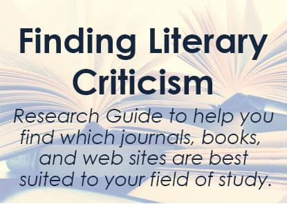 Featured Guide: Finding Literary Criticism